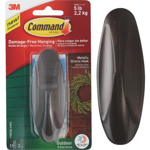 3M Command Outdoor Metallic Bronze Hook