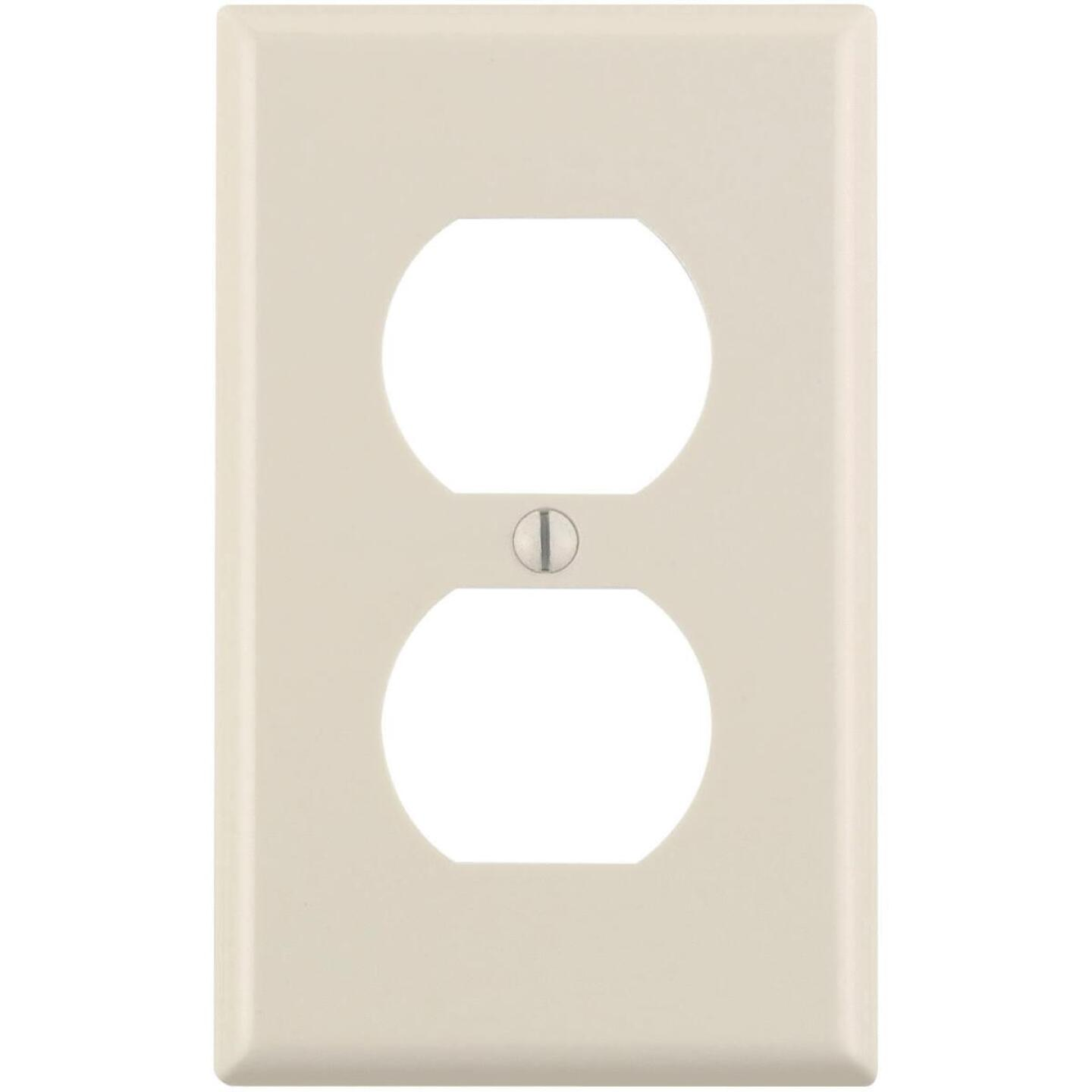 Leviton 1-Gang Smooth Plastic Outlet Wall Plate, Light Almond (10-Pack) Image 1