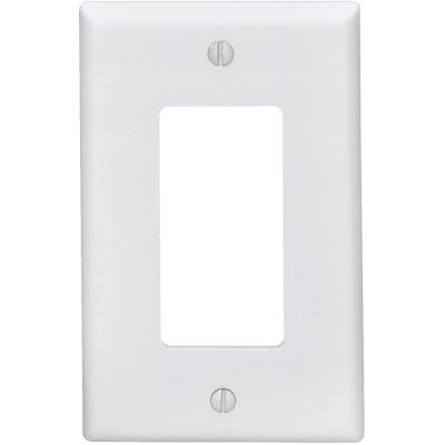 Leviton Mid-Way 1-Gang Smooth Plastic Rocker Decorator Wall Plate, White