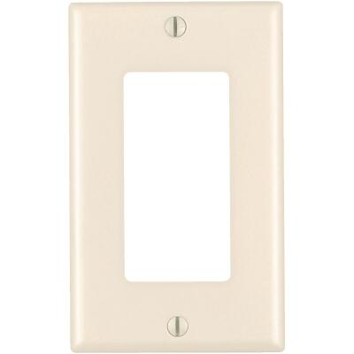Leviton Mid-Way 1-Gang Smooth Plastic Rocker Decorator Wall Plate, Light Almond