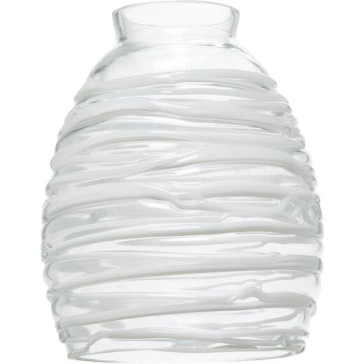 Westinghouse 5-3/4 In. Clear White Glass Shade