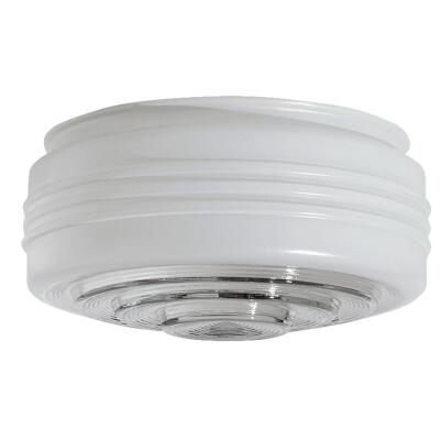 Westinghouse White & Clear 4 In. x 8-3/4 In. Drum Ceiling Shade