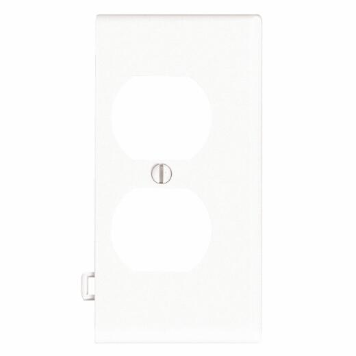 Leviton Duplex End Sectional 1-Gang Plastic Outlet Wall Plate, White
