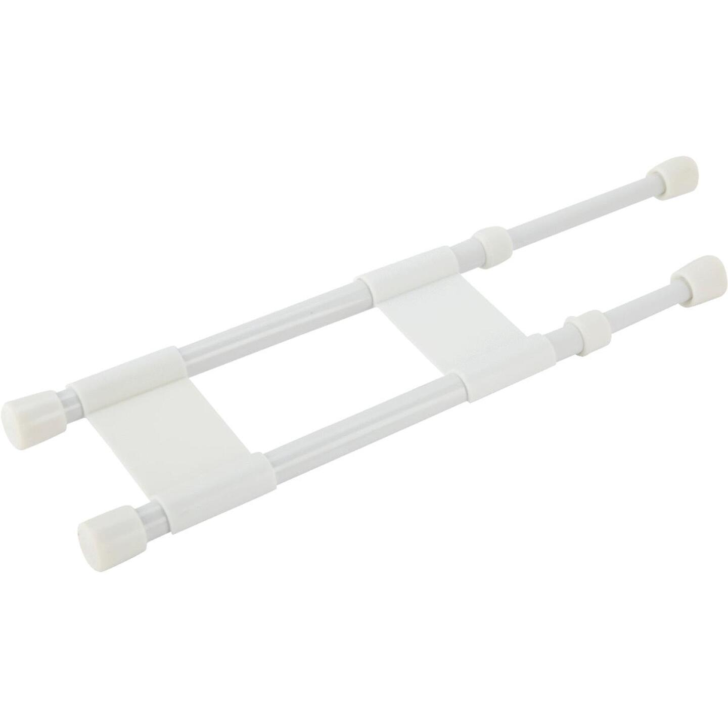 Camco Extends 10 In. to 17 In. White Cupboard RV Storage Bar Image 1