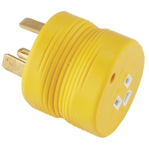 Camco Power Grip 30A Male to 15A Female RV Plug Adapter