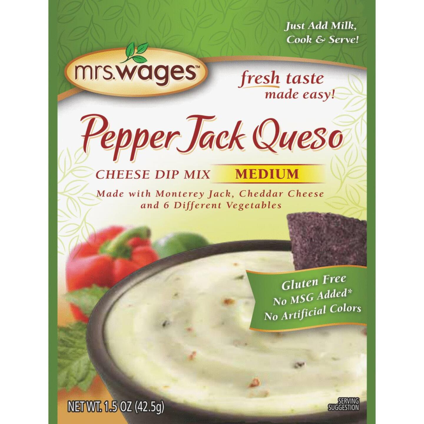 Mrs. Wages 1.5 Oz. Pepper Jack Queso Cheese Dip Mix Image 1