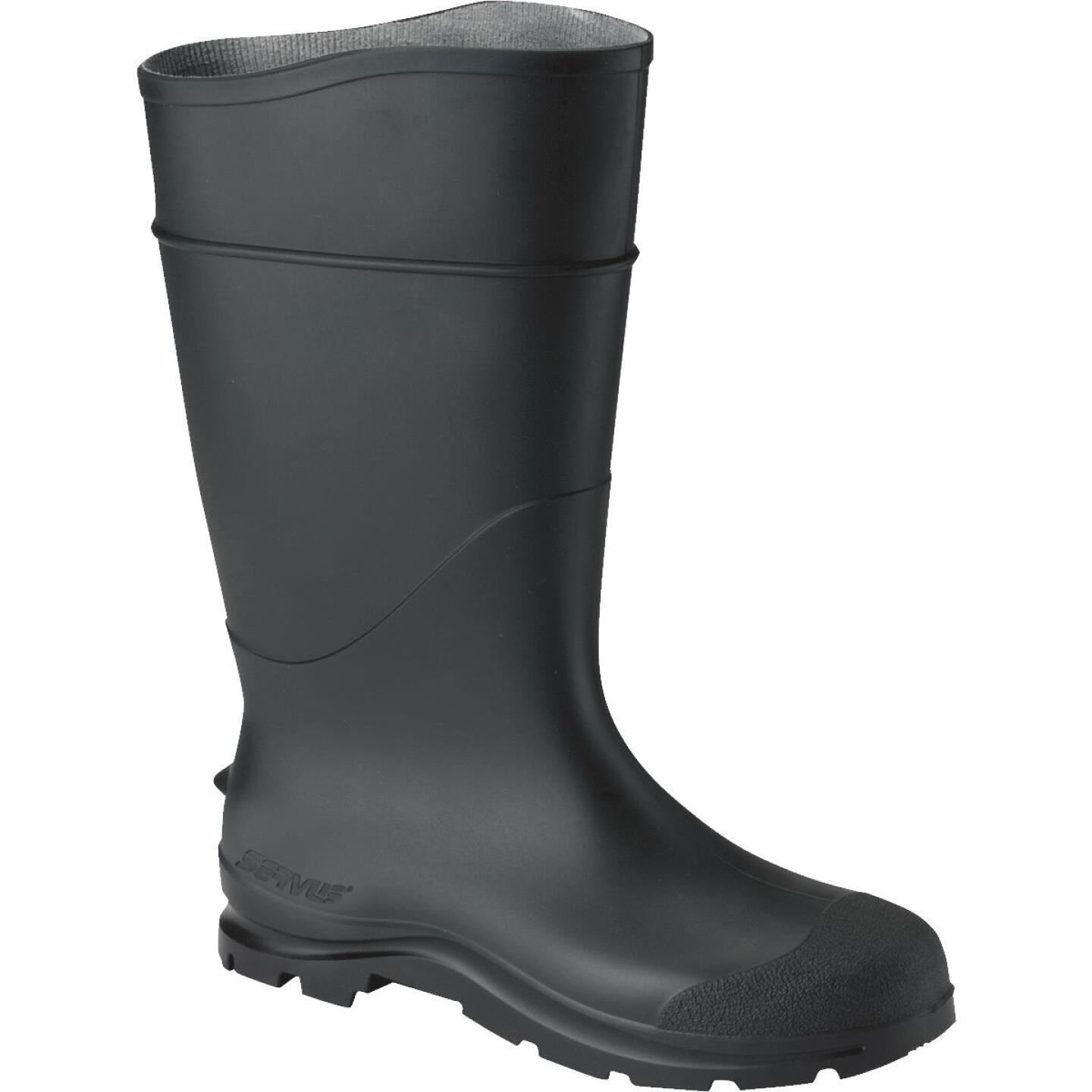 Honeywell Servus Men's Size 10 Black Plain Toe PVC Rubber Boot Image 1