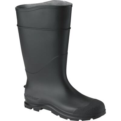 Honeywell Servus Men's Size 8 Black Plain Toe PVC Rubber Boot