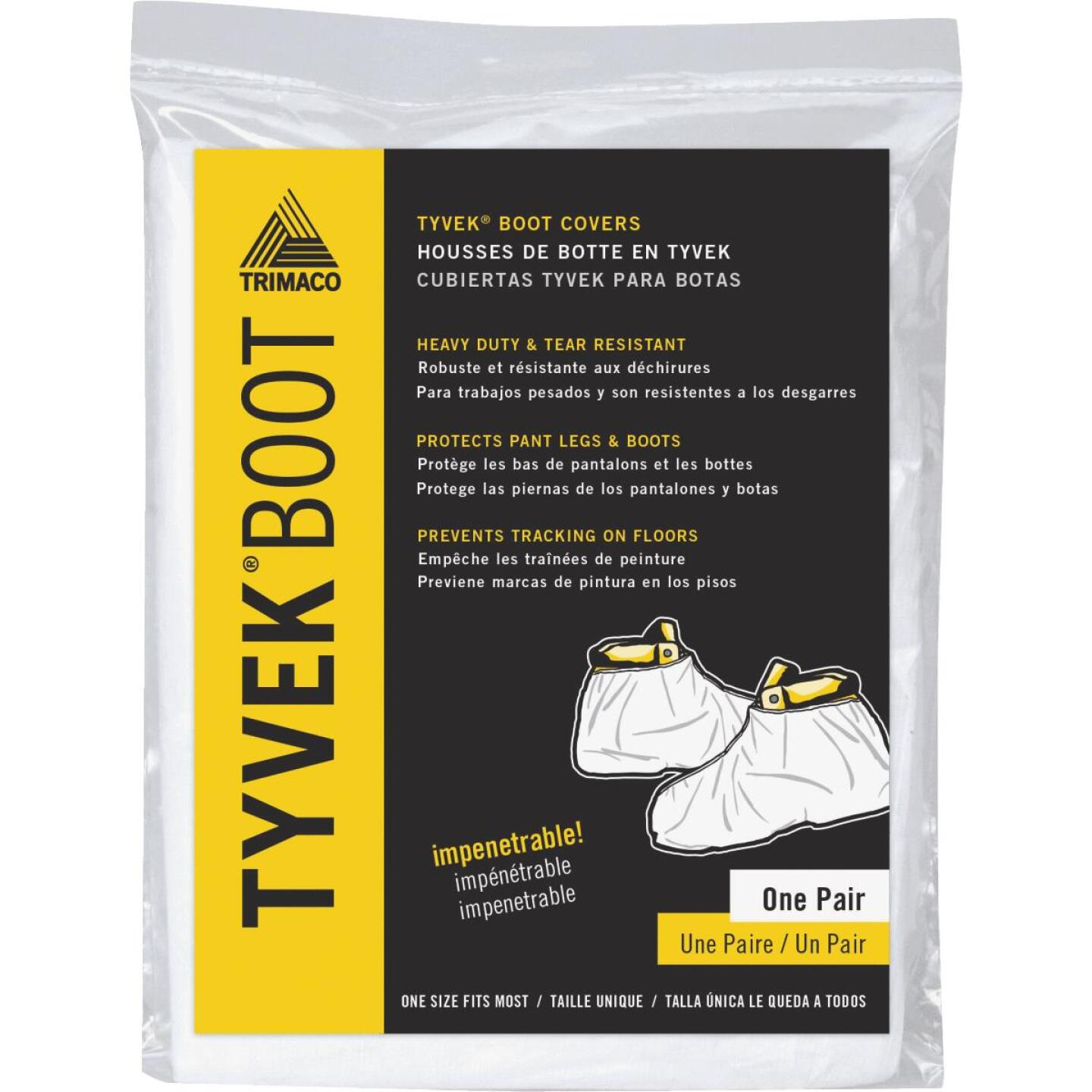 Trimaco 1 Size Fits Most Tyvek White Boot Guard Cover Image 1